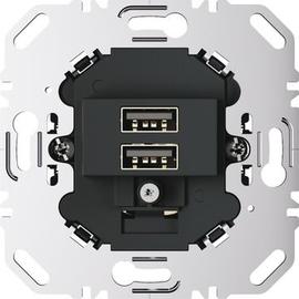 260205 Berker BERKER USB Ladesteckdose 230 V  2fach mit Tragring eckig  anthra Produktbild