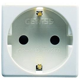 GW20265 Gewiss STECKD.2P+E 16A DEUTSCHER ST.-WT Produktbild