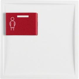 12169909 Berker BERKER S.1/B.x Zstk. mit roter Ruftaste oben polarweiß matt Produktbild