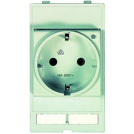 39500010001 Harting Steckdosenmodul Deutschland m. LED (VDE) Produktbild