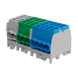 2810017 Eltropa Hauptleitungsklemmblock Blau 1polig 6-Fach 4x16mm² 2x25mm² Produktbild